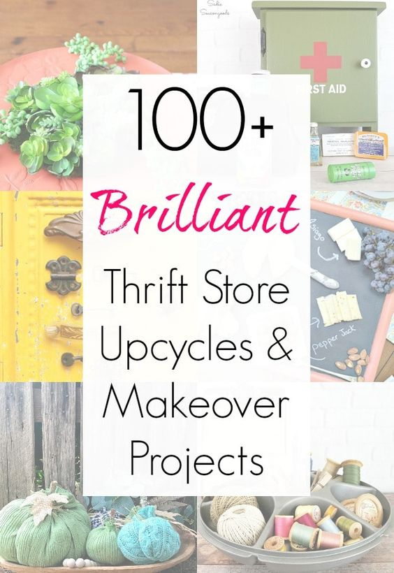 Love upcycling thrift store treasures but have run out of inspiration? Let The Thrift Store Decor Team help with this AMAZING collection of thrift store transformations, makeover, repurposed, and upcycled craft projects! For ever level of craft and DIY expertise, there are countless upcycling ideas here to inspire you. Get all these ideas from Sadie Seasongoods at www.sadieseasongoods.com . #upcycle #thriftstoremakeover #thriftstoretransformation #DIYproject #repurpose #upcycling