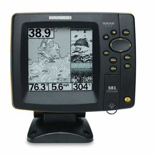 humminbird 581i 5-inch waterproof marine gps and chartplotter with, Fish Finder