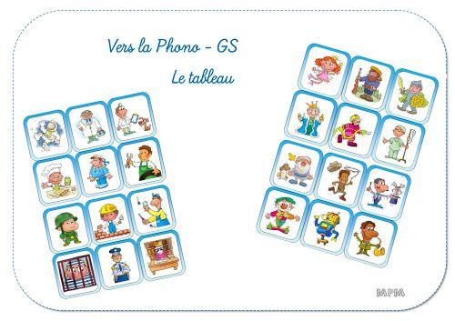 Ma petite maternelle: Phonologie - Le tableau GS