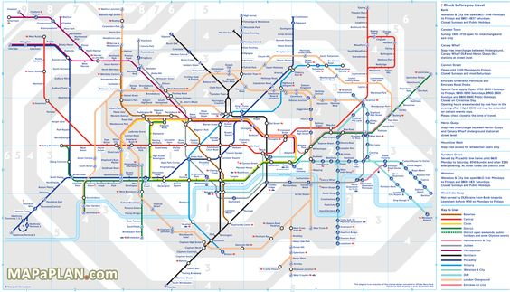 London Top Tourist Attractions Map Tube Underground Subway