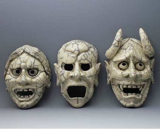 Japanese Demon Masks.