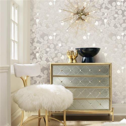 Silver Sparkle Modern Classic Removable Wallpaper Home Decor Furniture Decor