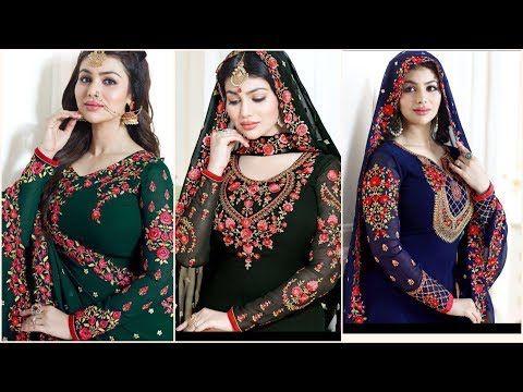 2 فساتين هندية للاعراس للبنات 2018 فساتين ساري هندية 2018 للبنات الكبار المحجبات Youtube Long Sleeve Blouse Fashion Women