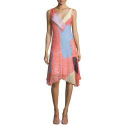 Diane von Furstenberg Dita Sleeveless Silk Patchwork Dress for shopping >>>$$price $398.00 At : Top10dresses #Diane-von-Furstenbergdress #Diane #von #Furstenberg #Dita #Sleeveless #Silk #Patchwork #Dress #for #shopping