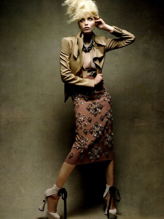 Natasha Poly by Patrick Demarchelier for Vogue China: