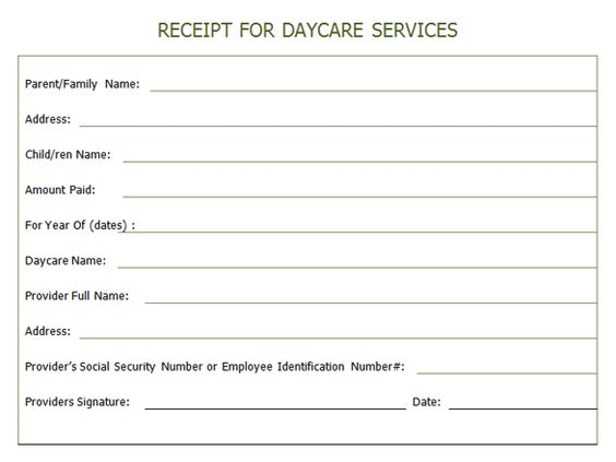 Daycare Invoice Template Word | Design Invoice Templatechild Care