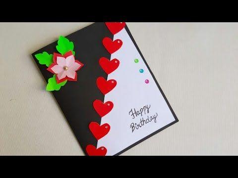 Beautiful Birthday Greeting Card Idea Diy Birthday Card Complete Tutorial Yout Diy Greeting Cards For Birthday Card Design Handmade Birthday Card Craft
