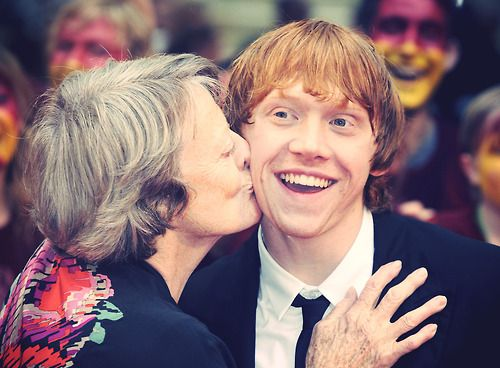 Rupert Grint and Maggie Smith