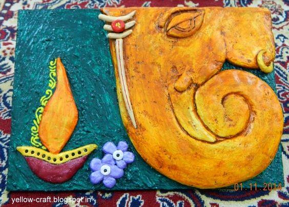 Mural art 3d ceramic paintings yellow craft for Ceramic mural making