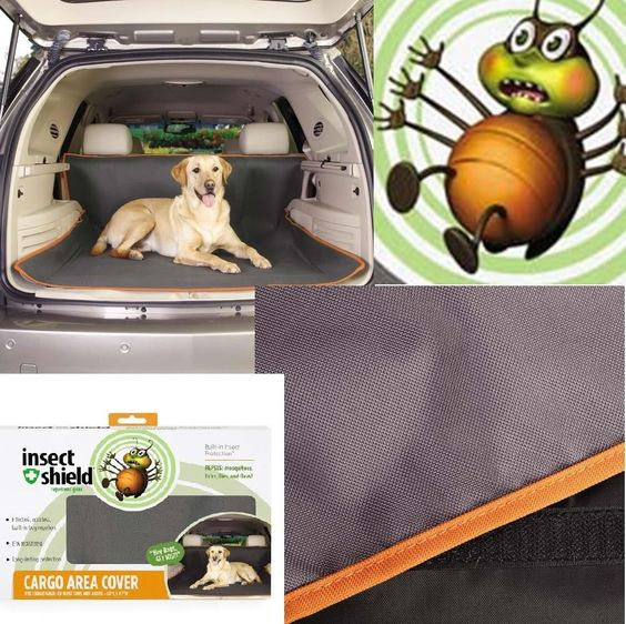 Insect Shield Car Truck SUV Dog Cargo Cover Dog Blanket Flea Tick Repellent