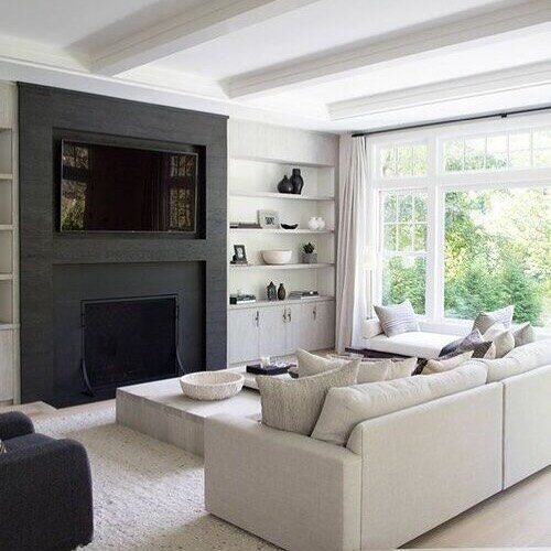 Pin On Large Living Room Layout Modern living room with fireplace