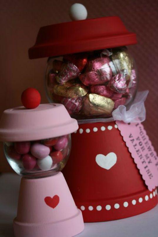 (Ideia dos vasinhos: cor e decor) #valentine