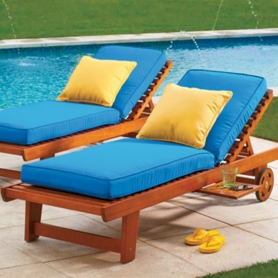 Wood Single Chaise Lounge: