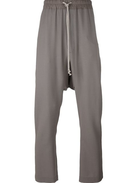 RICK OWENS Drop-Crotch Trousers. #rickowens #cloth #trousers