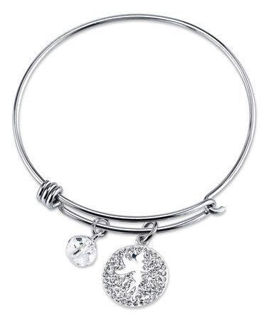 Look what I found on #zulily! Crystal & Sterling Silver 'Sprinkle a Little Magic' Bangle #zulilyfinds