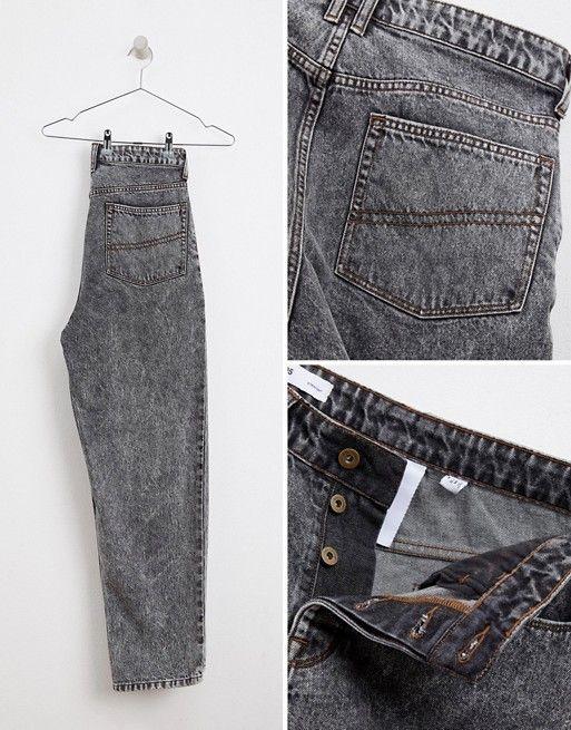 Collusion | COLLUSION straight leg jean in washed black