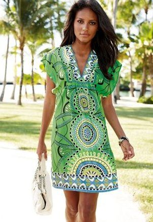 Green tunic- Suit covers and Summer dresses on Pinterest