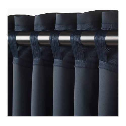 Majgull Blackout Curtains 1 Pair Dark Blue 57x98 Blackout