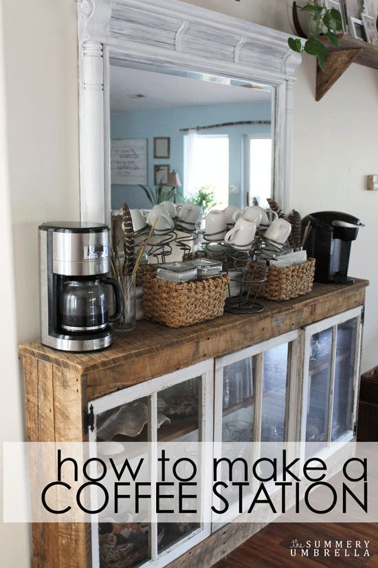 learn how to make a rustic and unique coffee station out of repurposed items unique diy coffee station