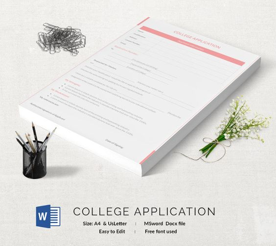 College Application Template 13+ Free Application Templates - printable application