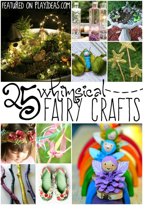 25 whimsical fairy crafts for kids helpful hints kid for Garden crafts for preschoolers