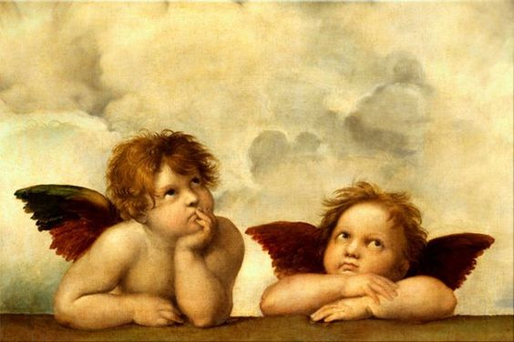 Angels and cherubs prints Angel print Angels canvas print Angel art Angel pictures Angel painting An