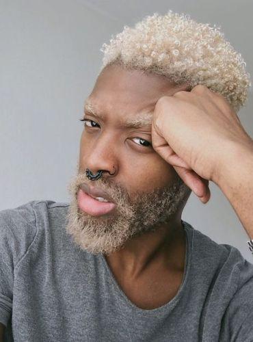 homme dcoloration coloration cheveux afro crpus naturels hommes cheveux crpus pinterest afro - Just For Men Coloration Cheveux Homme