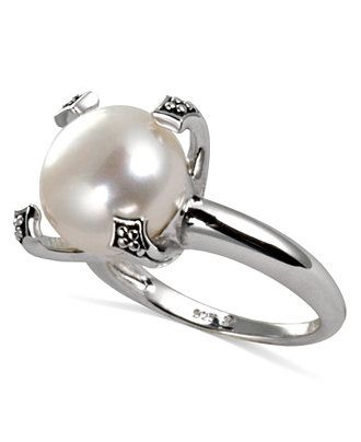Honora Style Cultured Freshwater Pearl Ring in Sterling Silver (12mm) - Rings - Jewelry & Watches - Macy's