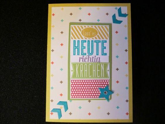 Geburtstag - Lass es heute richtig krachen -Geburtstagskarte - ein Designerstück von kreativesherzerl bei DaWanda