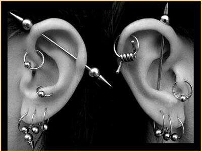 Exclusive 25 Industrial Piercing Examples