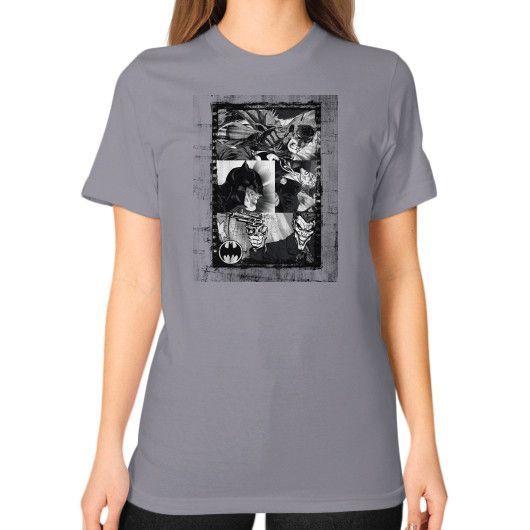 Batman and the Joker Unisex T-Shirt (on woman)