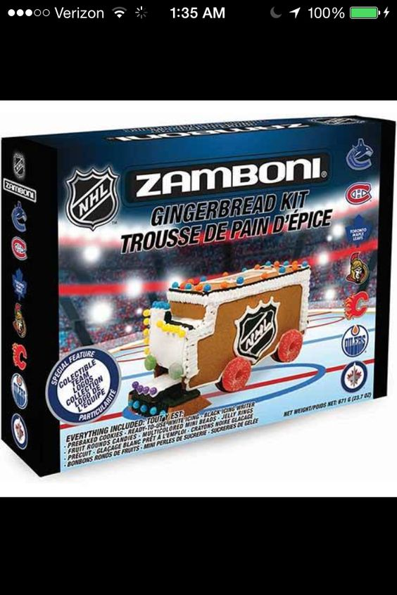 My kids would love this over a traditional gingerbread house! Awesome Zamboni…