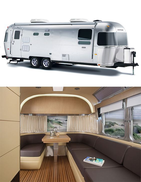 Airstream land yacht with design elements and decor for Airstream decor
