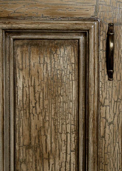 amazing Crackle Paint On Kitchen Cabinets #3: crackle kitchen cabinet doors | Crackle cabinet close-up