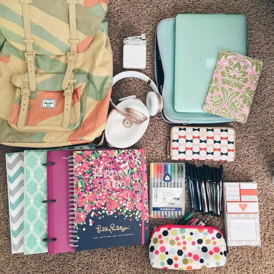 whimsicaljourney:  School supplies for this school year.: