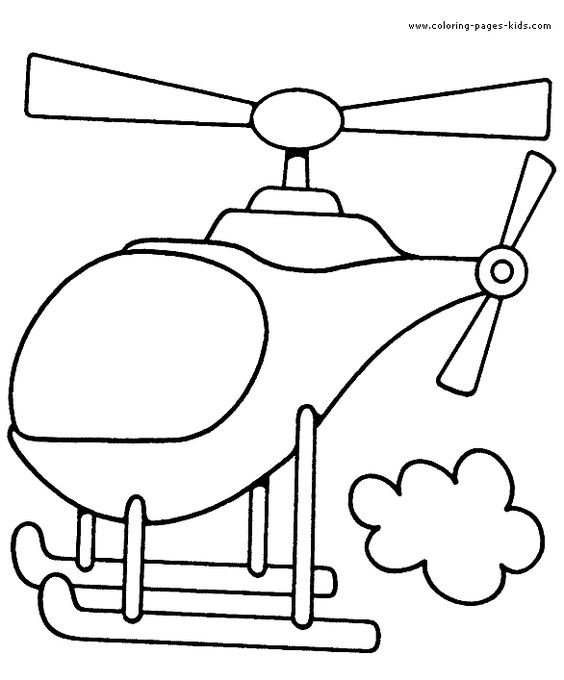 helcopter color page transportation coloring pages, color plate ...