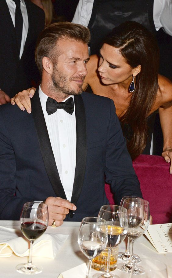 David Beckham and Victoria Beckham look so nice and in love at an after party!
