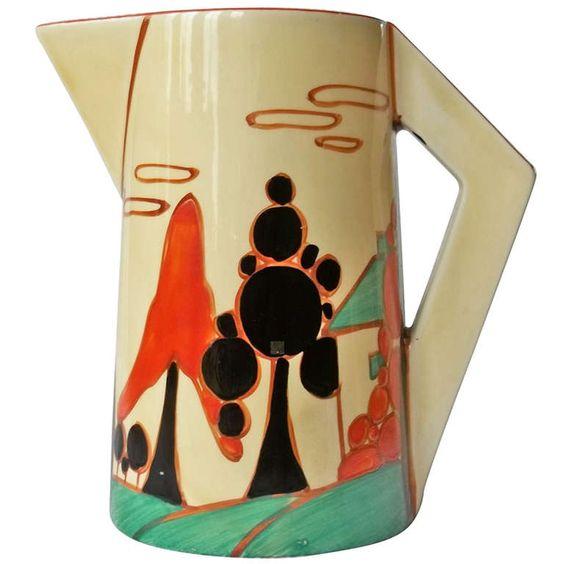 Clarice Cliff Fantasque Bizarre Conical Jug Ca.1931 - Art Deco Style