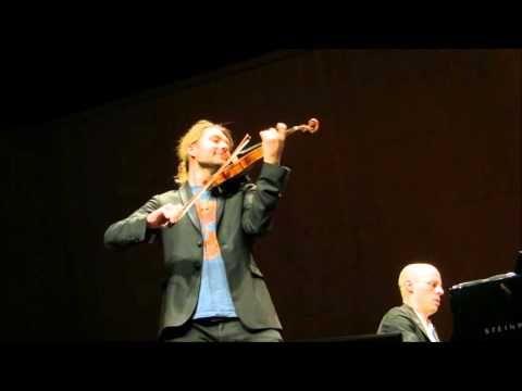 David Garrett - Tanz der Kobolde Bazzini, 08.05.2016 Saarbrücken Recital mit Julien Quentin - YouTube