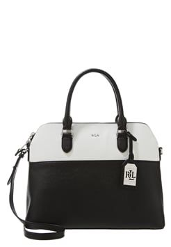 Lauren Ralph Lauren DOME - Handbag - black/white £245.00 #Reviews #want #FashionDesigner
