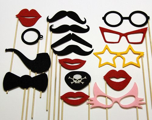 Mustache On A Stick Photo Booth Props Fun for Weddings, Parties, Birthday event