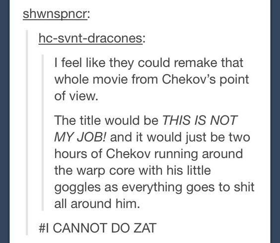 Star Trek: Into Darkness from Chekov's POV