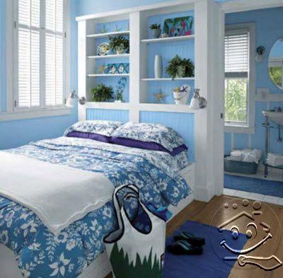 +7 kamar tidur sederhana warna biru terbaru 2020 - desain