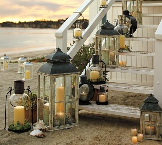 Most of these outdoor lights are made from recycled materials