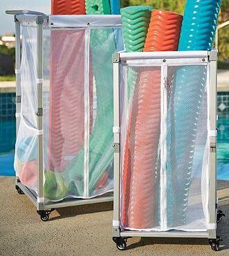 Storage Cart Pool Storage And Mesh Fabric On Pinterest