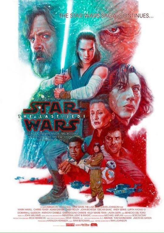 STAR WARS; THE LAST JEDI Movie PHOTO Print POSTER Luke Skywalker Mark Hamill 055
