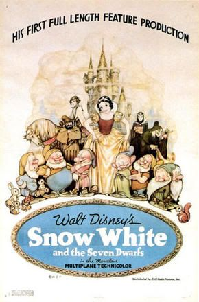 Vintage Disney Poster - Snow White