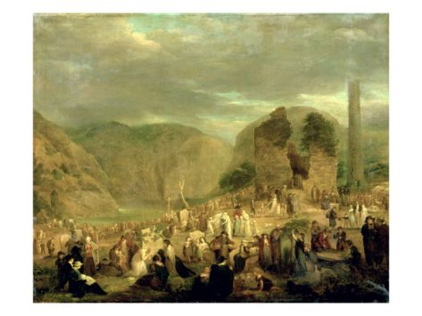 ALL SOULS' DAY IN THE CHURCHYARD AT GLENDALOUGH