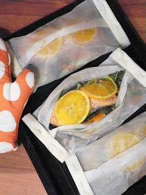 O Meu Tempero: Lombos de salmão com legumes em papelote