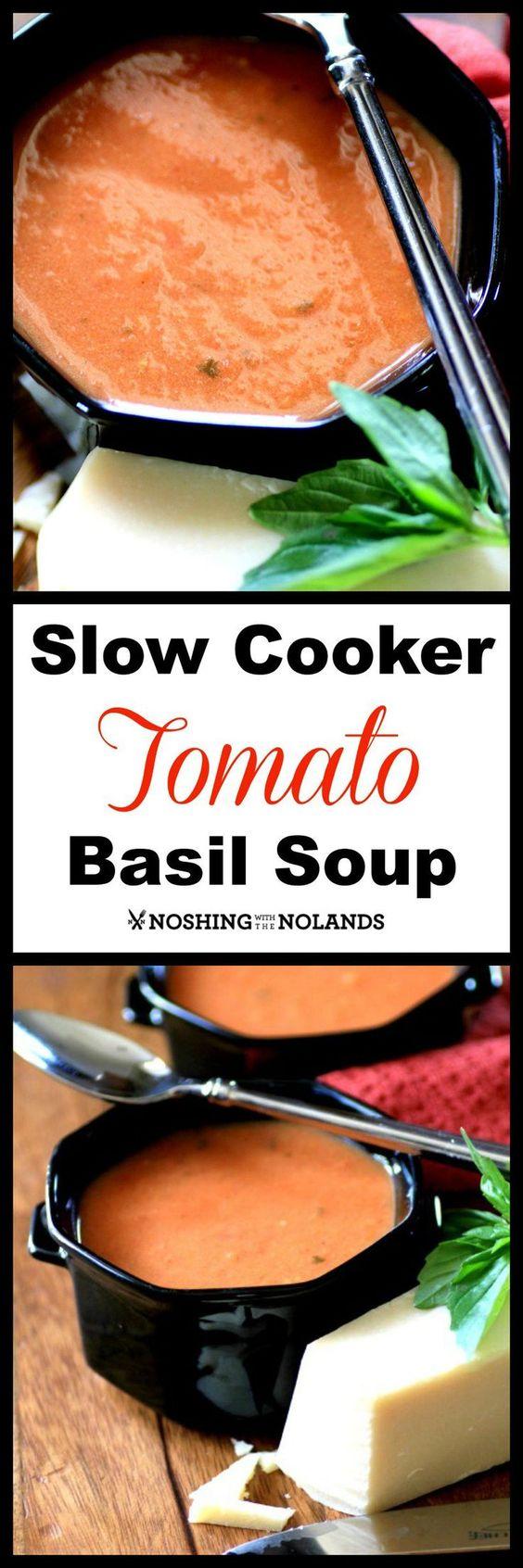 MWM Slow Cooker Tomato Basil Soup | Tomato Basil Soup, Tomato Basil ...